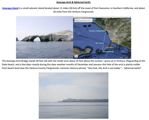Anacapa Arch Spherical Earth Notes