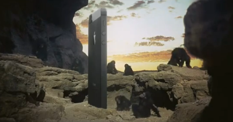 iphone 5 as monolith from space odyssey, kubrick