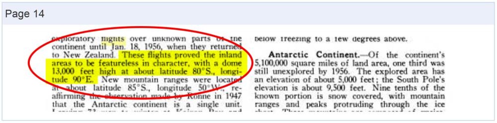 Firmament Confirmed in the Encyclopedia Americana, Vol. II (1958) – Antarctica (Capture)